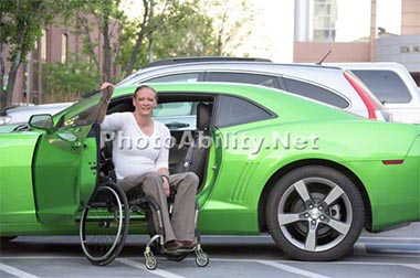 Woman in a Wheelchair in Salt Lake City