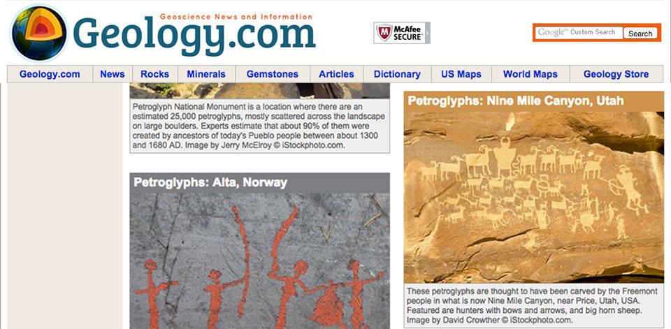 hunter panel petroglyph on geology.com