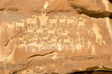 DedicatedTeacher.com uses Hunter's Panel Indian Petroglyph Image