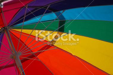 Rainbow Umbrella Stock Photograph