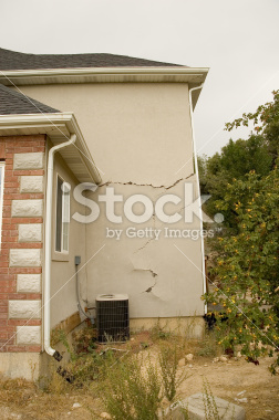 Home Structural Damage Stock Images
