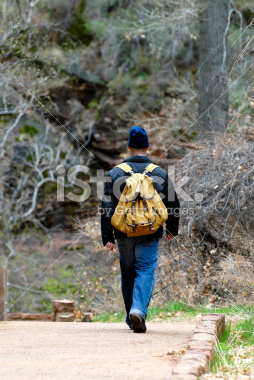 Hiker Image in Zion National Park