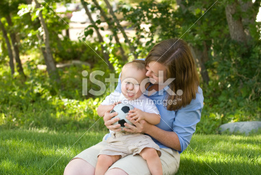 Mother Playing with her Son