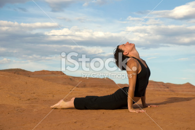 Yoga Positions at Lake Powell