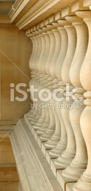 Columns in the Louvre Museum