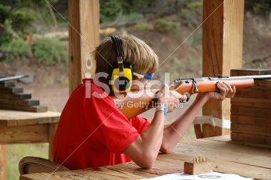 Boy Scout Shooting at the Rifle Range