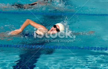Summer Swim Meet Stock Images