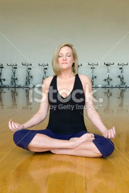 Yoga Lotus Pose in the Gym