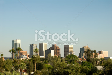 Phoenix Arizona Downtown Skyline