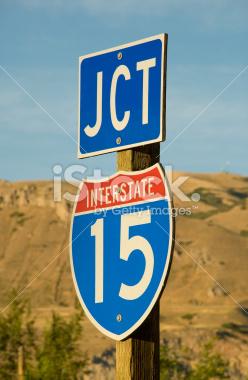 Junction I15 Interstate Sign