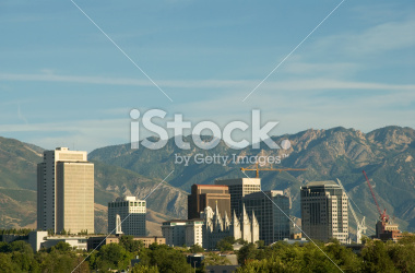Salt Lake City Downtown Skyline