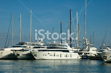 Yachts in the Marina in Mallorca Spain